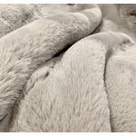 """Modern Soft Luxury Chinchilla Feel Faux Fur Throw Cal King/Eastern King - 104"""" x 93"""" / Mocha"""