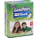 GoodNites Bed Mats, Disposable - 9 mats