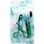 Touch Me Personal Care Collection #11101: Eye Shadow Applicator, Eyelash Curler, Tweezer, Eyebrow Brush