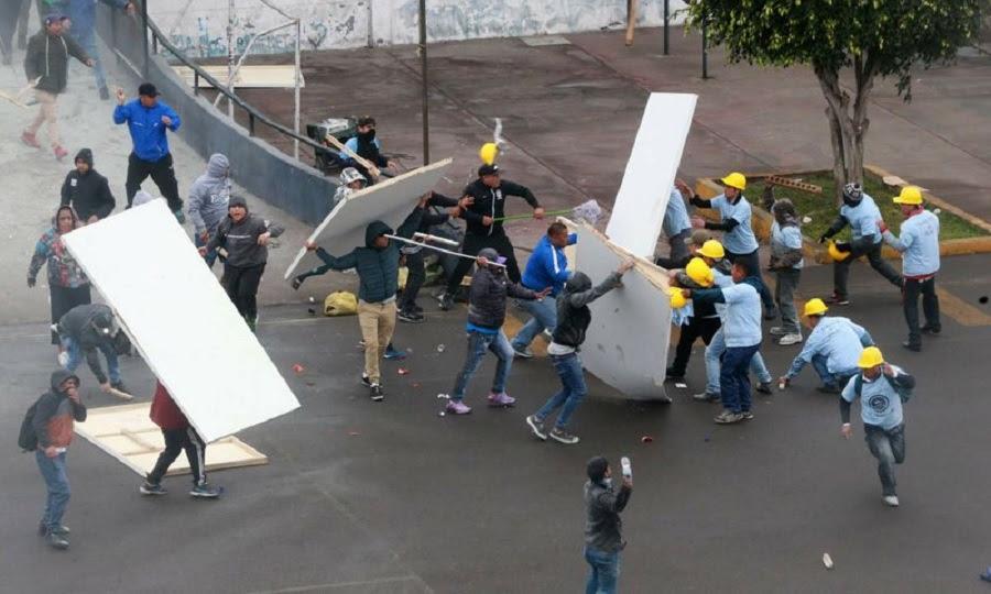 Απίστευτο ξύλο στο Περού μεταξύ οπαδών ομάδας και μελών θρησκευτικής οργάνωσης! (videos)