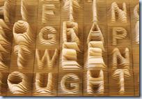 Alphabet Topography