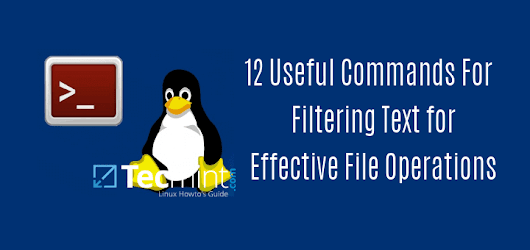 12 Useful Commands For Filtering Text for Effective File Operations in Linux