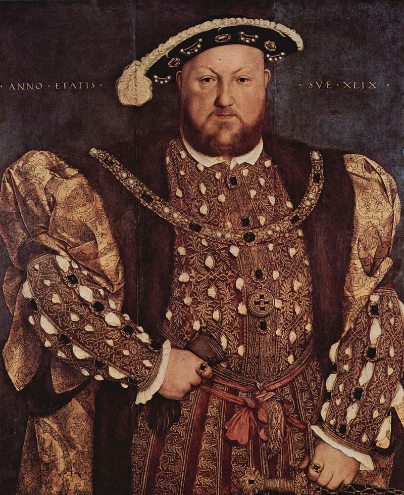 Enrico VIII d'Inghilterra ritratto da Hans Holbein il Giovane tra il 1539 e il 1541