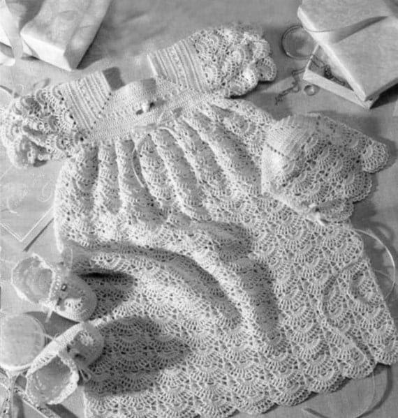 Vintage Christening Gown Crochet Pattern