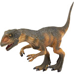 Juvale Dinosaur Toy Allosaurus Figurine - Realistic Plastic Toy Dinosaur Figure for Children, Themed Parties, Decorations, Brown - 8 x 4.6 x 1.8
