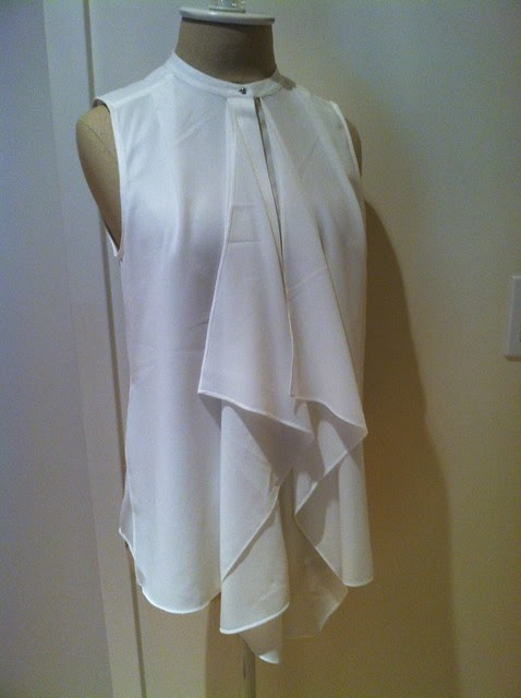 H&M ruffled blouse (white)
