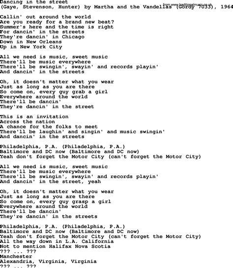 bruce springsteen song dancing   street lyrics