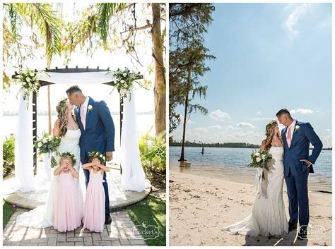 Amy and Miguel's Beachy Blush Paradise Cove Orlando