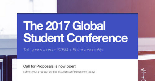 The 2017 Global Student Conference