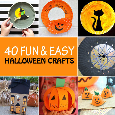 40 Fun and easy Halloween crafts for kids - NON-TOY GIFTS
