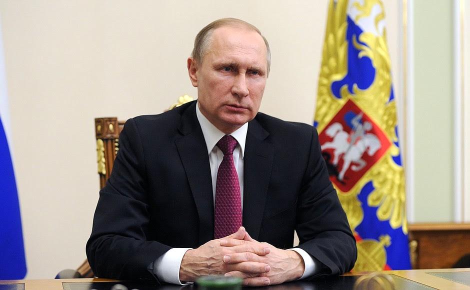 l'indirizzo di Vladimir Putin dopo l'adozione di una dichiarazione congiunta da parte della Russia e degli Stati Uniti alla Siria.