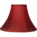 Deep Red Bell Lamp Shade 5x12x8.5 (Spider) - Style # 20573
