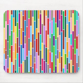 Abstract Stripes in Multicolours Mousepad mousepad