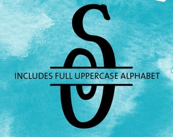 Download Monogram SVG Font - Files for Silhouette, Cricut - Split ...