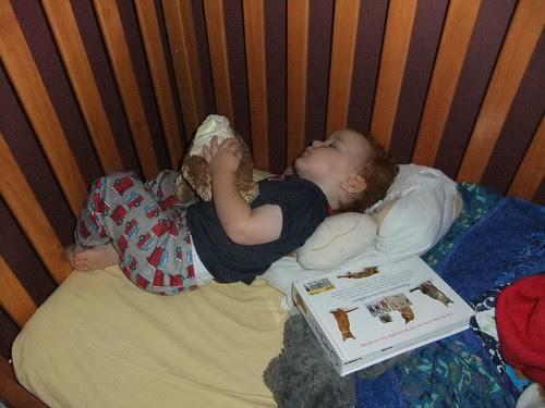 "Yes, my little sleeper is holding onto ""Bunny."" by aviva_hadas"