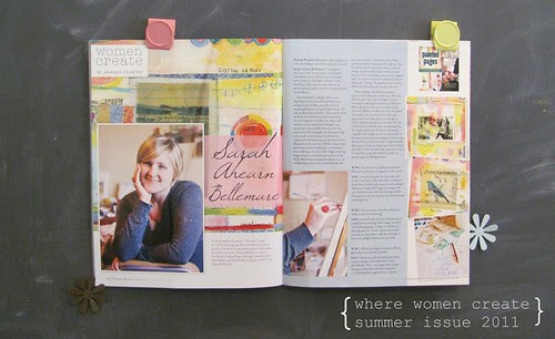 in summer 2011 issue of Where Women Create magazine