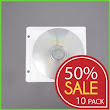 Sale 50% off. Half Price for 500 pieces CD Double Sided Refill Plastic Sleeve White