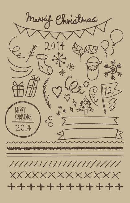 クリスマスカード イラスト 簡単