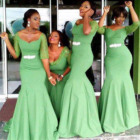Mermaid Bridesmaid Dress, Long Bridesmaid Dress, African