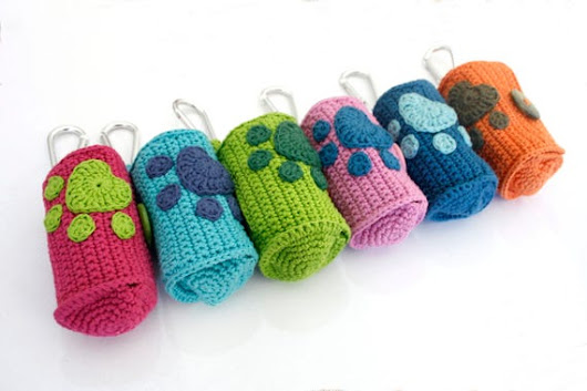 Crochet dog poop bag holdercrochet dog poop bag dispenserpoo
