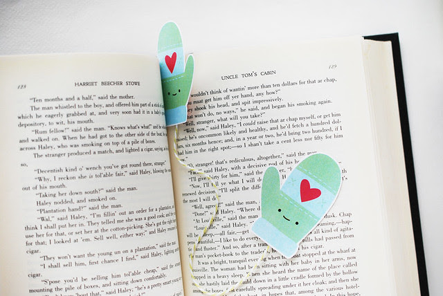 Printable Mitten Bookmark
