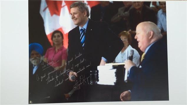 Stephen Harper salut le travail de Mike Duffy, juin 2009