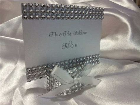 Bling Place card escort card holders with by