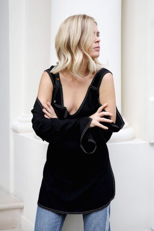 Le Fashion Blog Black Off The Shoulder Top Via We The People Style