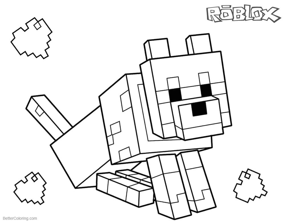 Minecraft Dog Coloring Pages at GetColorings.com   Free ...