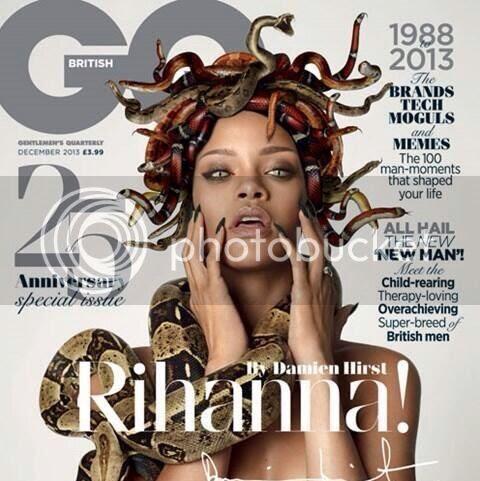 Rihanna becomes Medusa for GQ cover shoot...