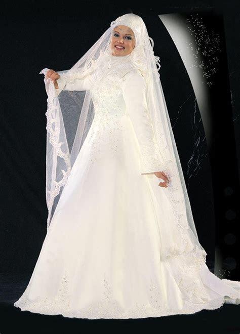 Modern Muslim Wedding Dresses Design With Veil   Wedding