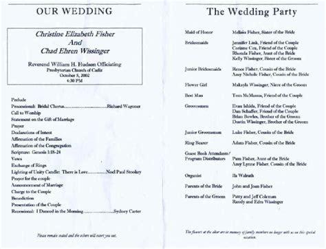 Wedding Reception Program Template   shatterlion.info