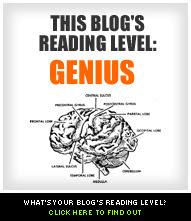 This blog's reading level: Genius