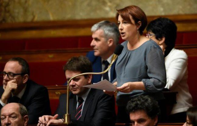 Isabelle Attard le 20 janvier 2016 à l'Assemblée nationale à Paris