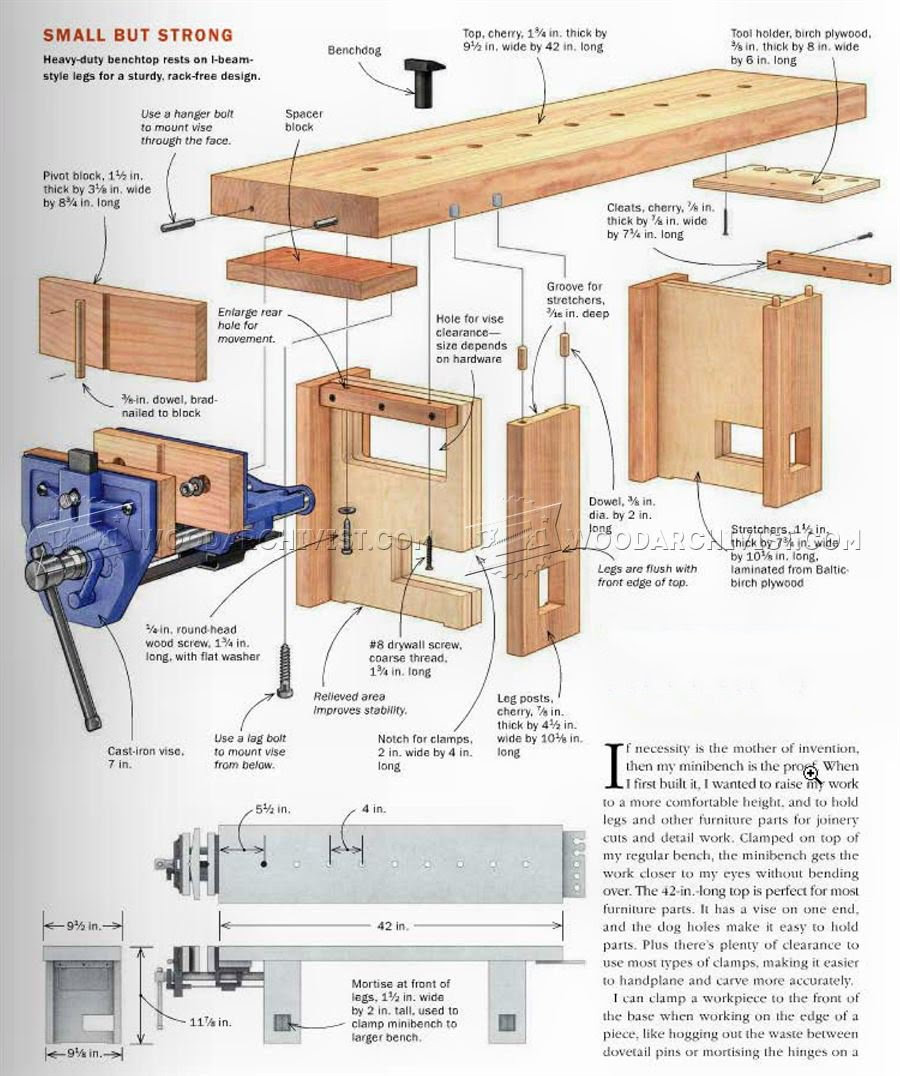 Plan D Etabli Bois mini woodworking bench plans