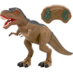 Best Choice Products 19in Kids Walking Remote Control T-Rex Dinosaur RC Toy Figurine w/ Light-Up Eyes, Realistic Sounds