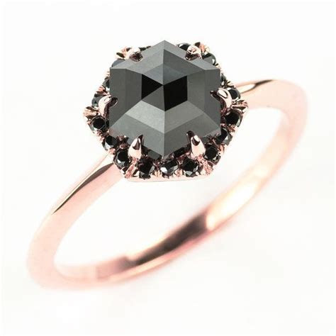 13 Black Engagement Rings For Brides With A Dark Side