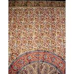 "Kalamkari Block Print Curtain Drape Panel Cotton 46"" x 88"" Green"