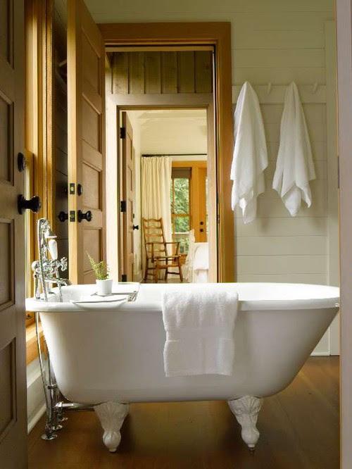 Guest Cabin traditional bathroom
