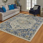 """G.A. Gertmenian and Sons Rio Rug Collection, Annecy Navy, 2'2"""" x 8'"""