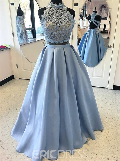 ericdress    pieces lace satin prom dress