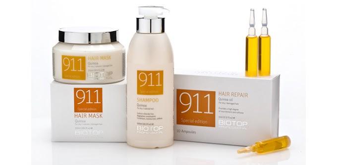 Biotop 3 item set Quinoa 911 hair Mask shampoo Ampoules for damaged hair eBay