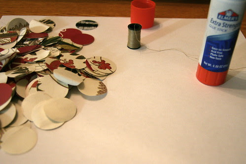 Making Christmas Garland