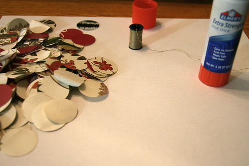 Making Christmas Garland