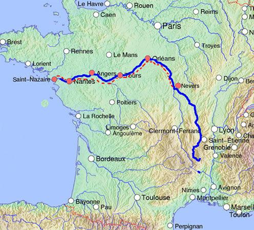 Castillos Del Loira Mapa.Castillos De Loira Mapa Mapa