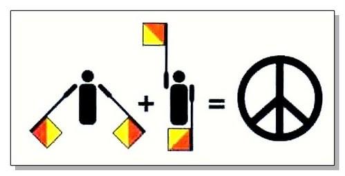 """Cómo se creo el símbolo de """"Amor y Paz"""""""