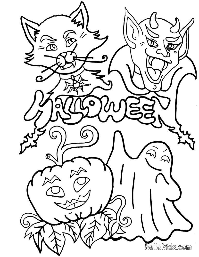 Halloween Monster zum Ausmalen
