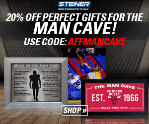 12/11-17: 20% OFF Gifts for the Man Cave at SteinerSports.com with code AFFMANCAVE