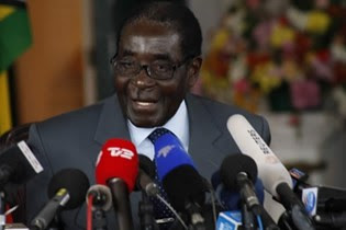 Republic of Zimbabwe President Robert Mugabe at a press conference on July 30, 2013. Mugabe said he was certain of victory in the national elections. by Pan-African News Wire File Photos