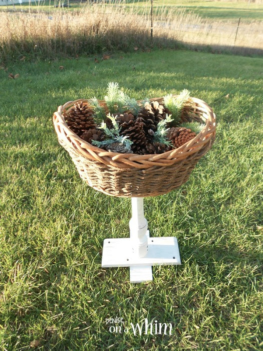 basket pedestal stand